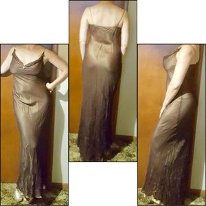 Metallic brown long dress